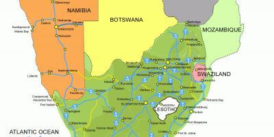 Lesotho Hartă Hărți Lesotho Africa De Sud Africa
